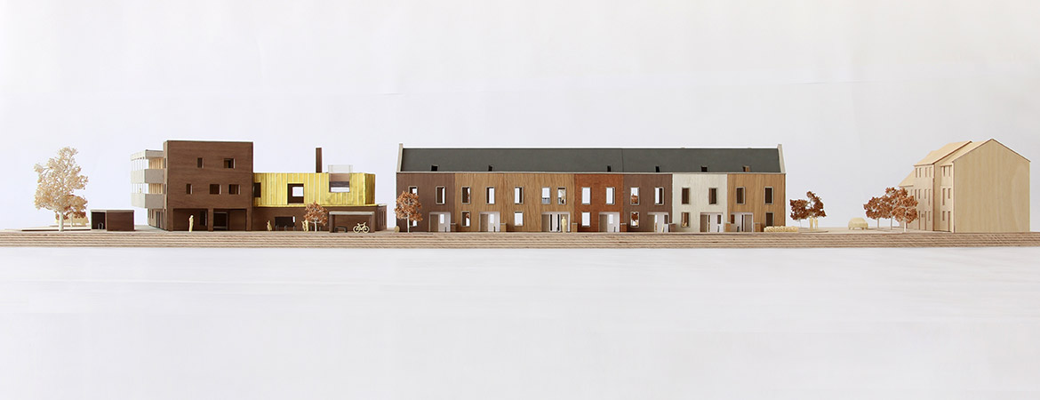 Architectural scale model of Marmalade Lane Cohousing in
