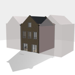 3D view of a TOWN custom build house