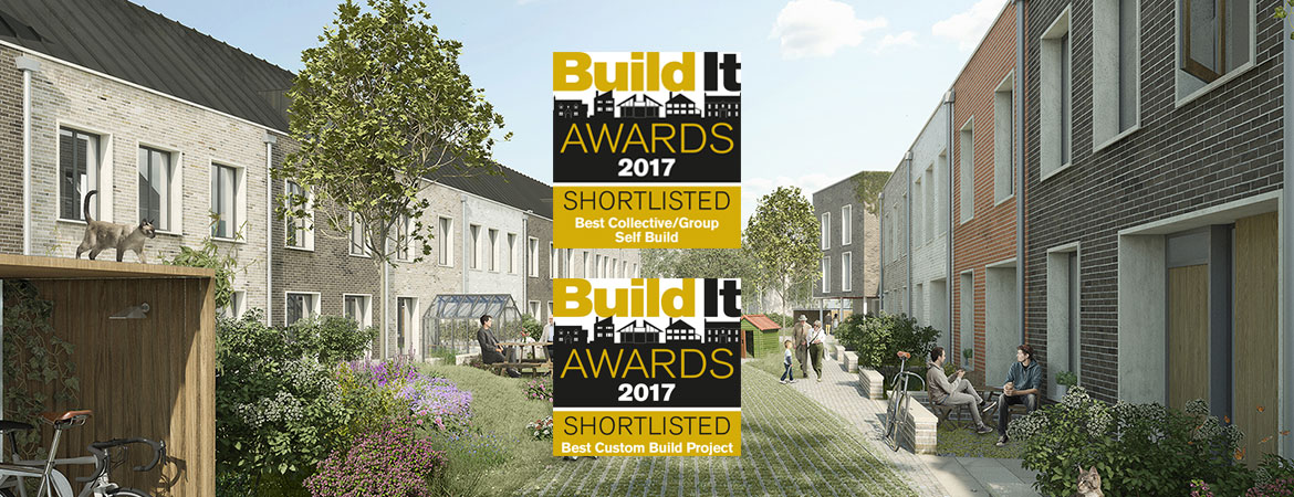Image of Marmalade Lane with Build It Awards Shortlisted icons for best Group Custom Build and Best Custom Build Model